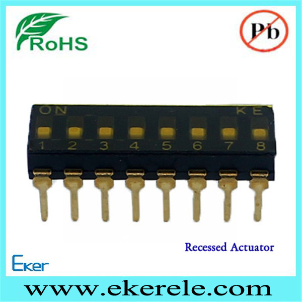 A6D-8103 IC Type 2 Row 8 pin dip switch selector switch