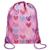 pink heart light weight handy waterproof backpack for girls