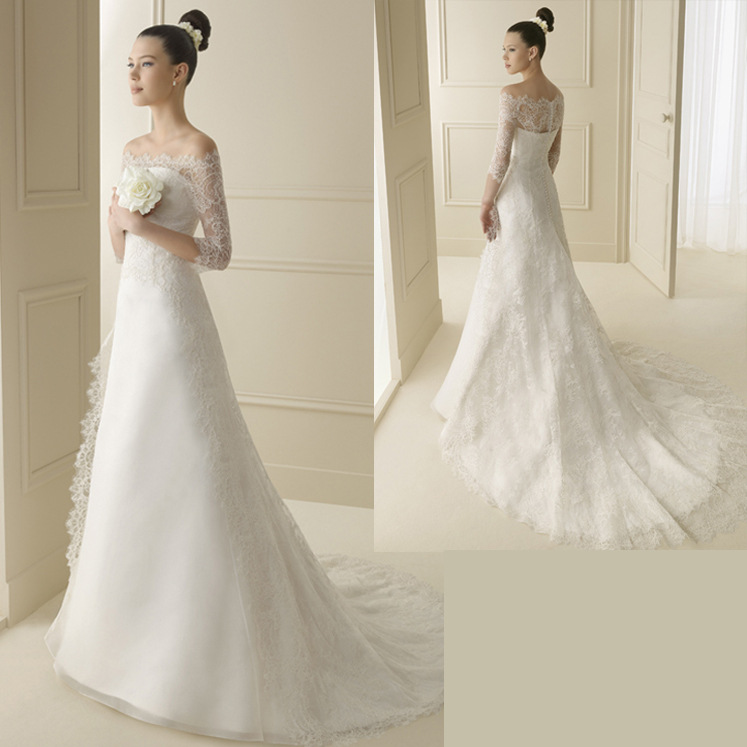 06W74 2016 Latest Design ladies lace alibaba mermaid wedding dresses white colors Romantic best Bride