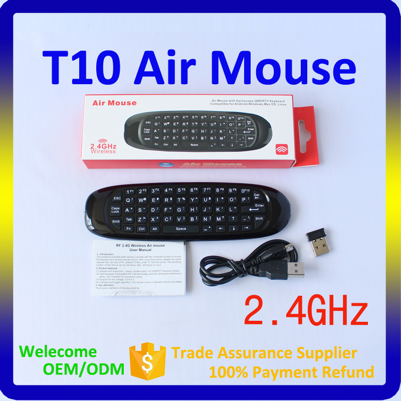2016 Best Selling Products in America T10 2.4 Ghz Wireless Keyboard Air Mouse