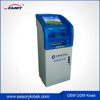 Bank free stand touch screen with intelligent queue management kiosk