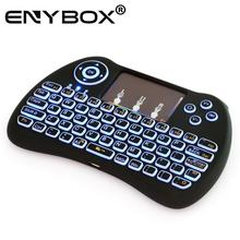 ENY new auto gradually changed colorful lamp mini wireless keyboard for tv box laptop