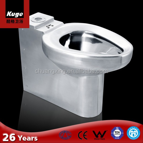 Stainless steel concealed pipe toilet