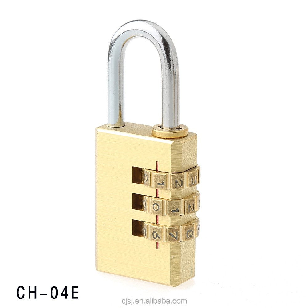 CH-04EHot-sale high quality brass creating 3 digits resettable combination locks
