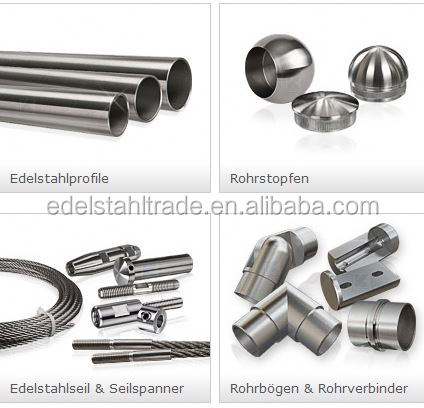 stainless steel handrail adjustable/flexible hollow tube connector