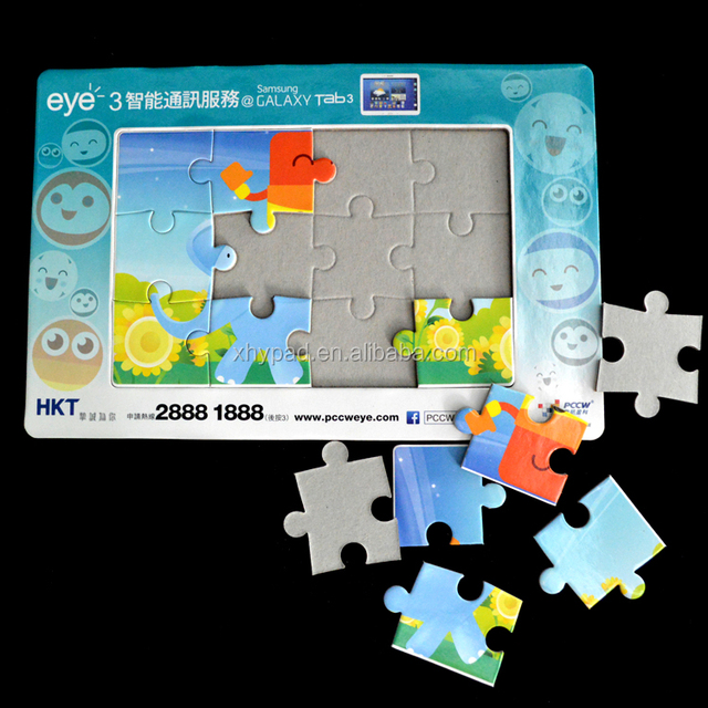 printed paper cardboard photo fram puzzle