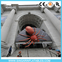 Outdoor decorative giant wall inflatables,giant inflatable spider,inflatable black spider