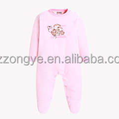 Winter boys & girls velvet Baby boys & girls open-crotch jumpsuits China factory