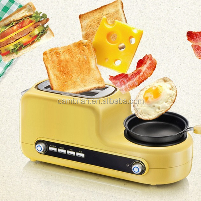 Breakfast toaster with egg cooker
