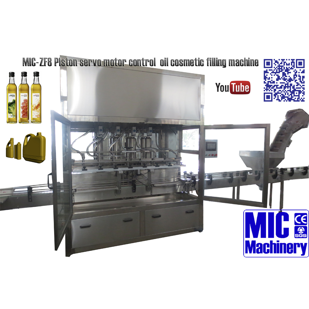 MICmachinery MIC-ZF8 piston liquid detergent filling machine for big volume bottle can reach 3000 bottles per hour