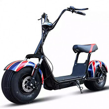 Big Fat Tire Electric Powered Scooter Black 40 mph 1000 watt Hub Motor EV 111B08