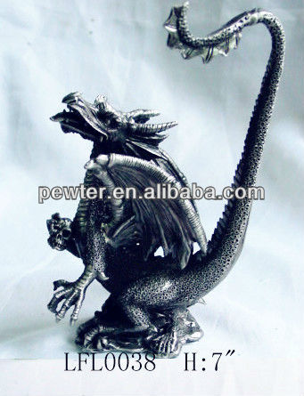 2013 New Design Golden Dragon Figurine, Tin Dragon Crafts
