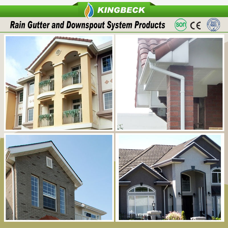 Low Cost Roofing material PVC rain gutter suppliers
