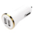 White Gold Plated Dual Usb Car Charger output 2.4A 2 port usb car charger