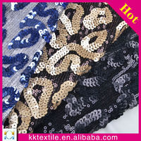 four season new design embroidery lace beads with sequin fabric