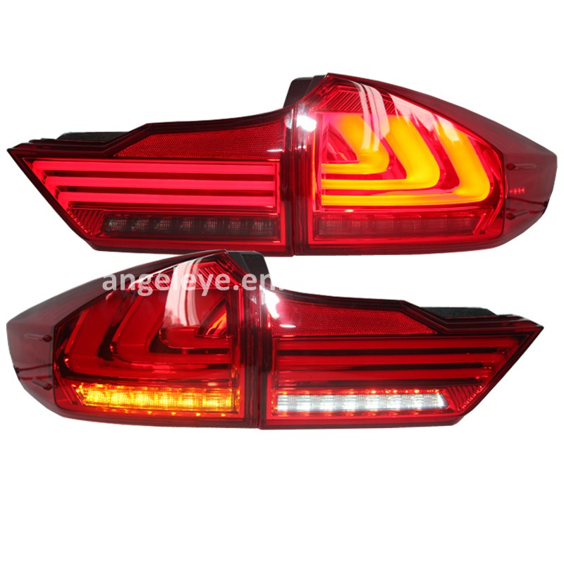 For HONDA City 2014-2015year LED Tail Light Rear lamp Back lights Red Black Color YZ