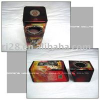 Bevel shape wine tin box