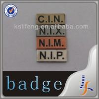 custom metal car metal sticker name badge, metal sticker