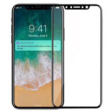 3D Curved Full Cover 9H Shatterproof Tempered Glass Screen Protector for iPhone x,10