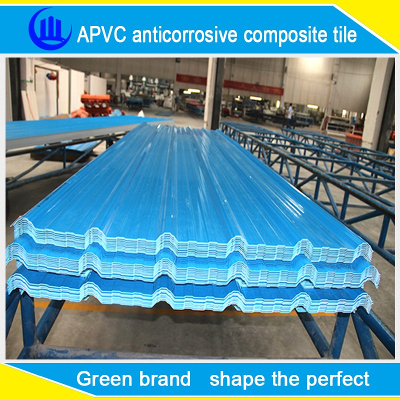 plastic flat sheet roof /colored plastic roof tile/concret waterproof top material