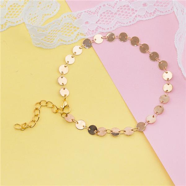 Copper Anklet Gold Plated Round Anklet Jewerly