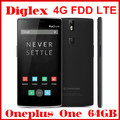 Oneplus One 64GB ROM Black Smartphone 4G FDD LTE Android 4.4 Mobile Phone 5.5 inch Quad Core Qualcomm Snapdragon 801 13MP Camera