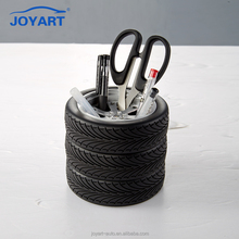 Fancy style plastic tire shape table pen holder