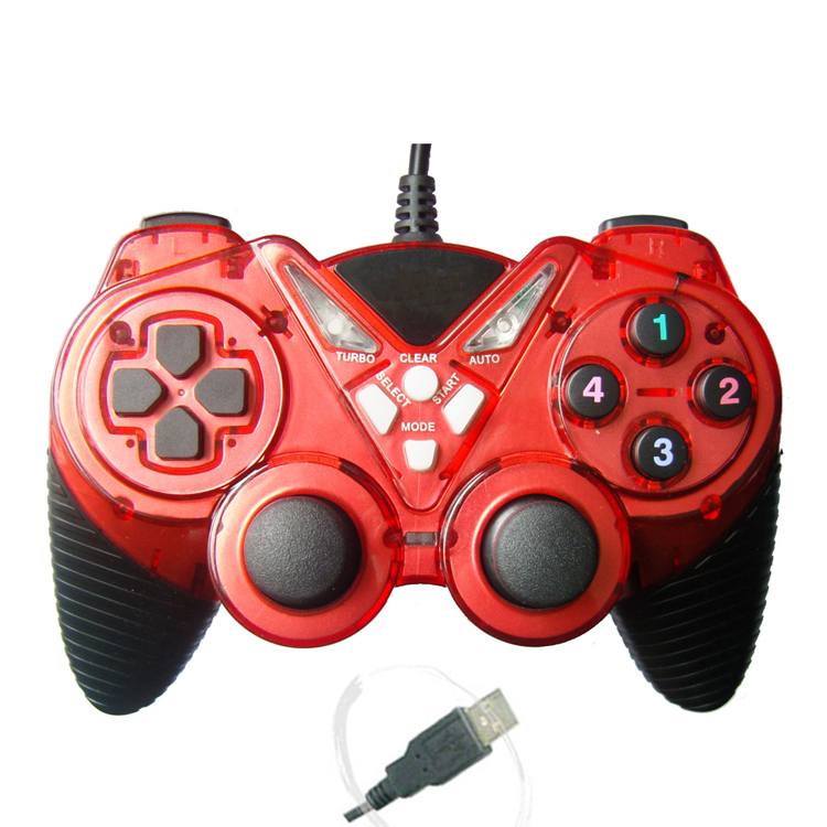 YLW 890 double shock PC controller wired gamepad joystick for window/Android