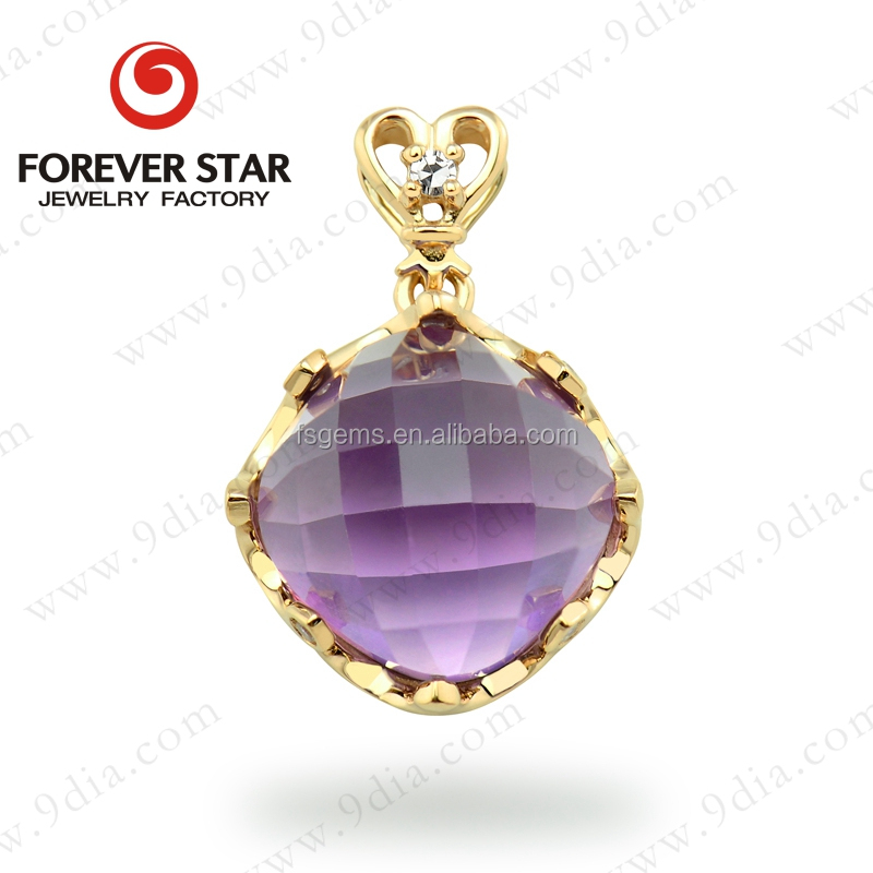 Guangzhou Jewellery Wholesale 10*10mm Cushion Shape Jewellery 10K Gold jewellery Making Supplies