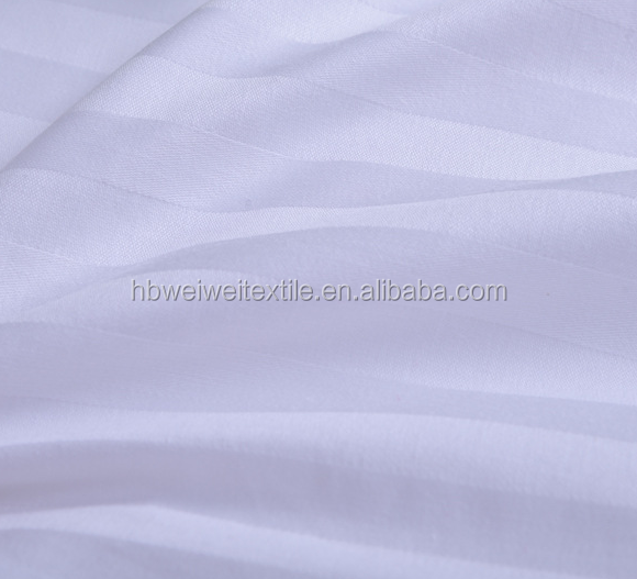 China  100% Cotton 3cm Stripe Fabric Hotel Bed Linen