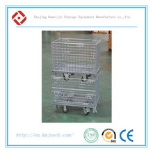 Iron Zinc Folding Stackable Hot Sale Storage Wire Mesh Basket Container