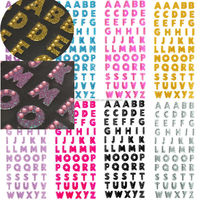 Alphabet Letter Glitter Crystal Stickers Self Adhesive DIY Decor Scrapbooking