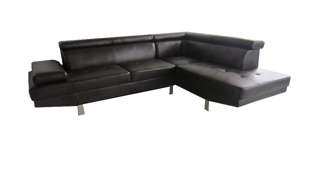 Genuine leather material leather sofas black and white for Genuine black leather sectional sofa