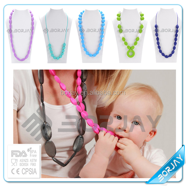 Handmade Pendant Necklace baby teether Silicone doll new wholesale charms pendant necklace