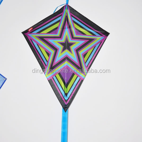Customized logo printed diamond kite