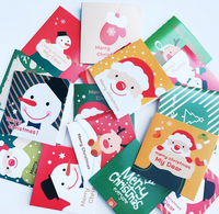 48-Pack Merry Christmas Greeting Cards Bulk Box Set - Holiday Xmas Greeting Cards with 6 Winter Holiday Designs, Envelopes Inclu