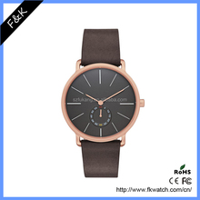 Top brand luxury gift simple love cute leather couple watch