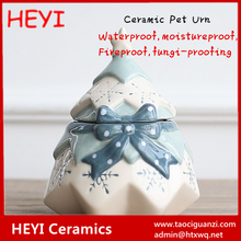 High Quality Inexpensive Christmas tree shape ceramic pet funeral urns