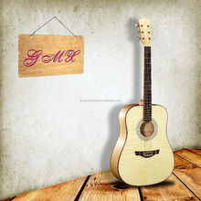 chinese OEM brand high gloss AAA Spruce semi acoustic guitar