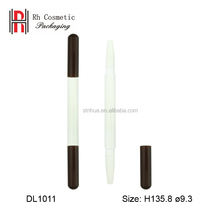 Empty custom double lip liner pen ended lip stick tube