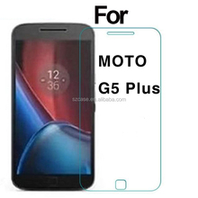 High Quality 2.5D 9H 0.33MM Tempered Glass Screen Protectors For Moto G5 Plus