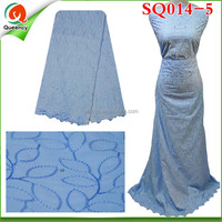 SQ014-5 New High Quality African Swiss Voile /100% Cotton Lace/ Big Lace Women Party Fabric