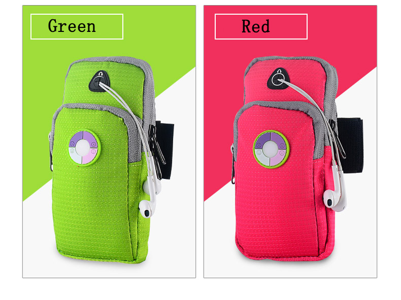 4 colors collecting small parts mobile phone arm bag band