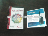 User Manual and Instruction Book printing from Chinese supplier