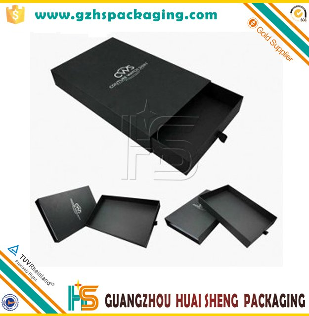 100% quality luxury custom cardboard paper t-shirt packaging boxes with drawer