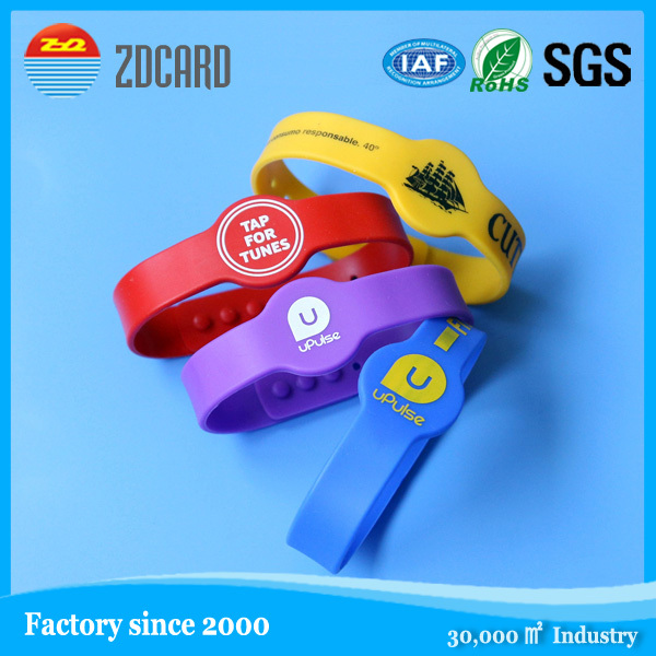 Fashional promotion gift nfc rfid wristbands fashion handmade real leather wristbands