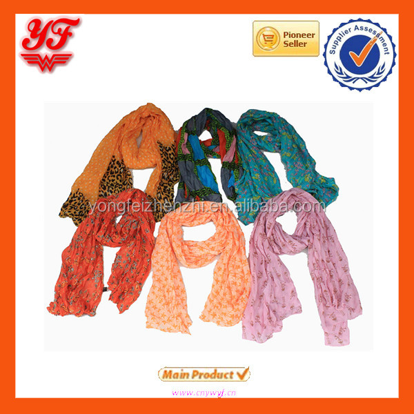 Wholesale Voile Printing Fashionable Scarves Muslim Turban Sunscreen Shawl