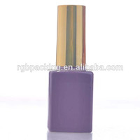 15ml Luxury Purple Color Glass Bottles Cube Shaped Empty Glass Bottles UV Gel Nail Polish Bottles Wholesale Factory