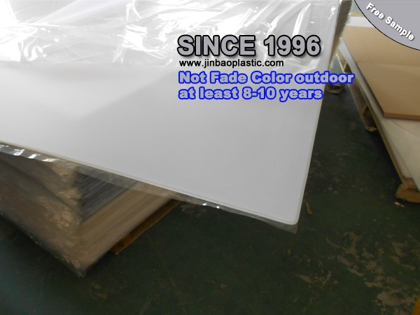 anti-scratch table clear color white frosted acrylic plexiglass sheet