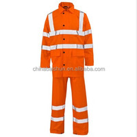 Hi-Visibility Fluorescent orange oil&gas refinery work wear